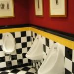 ランドルフホテルのポップなトイレ